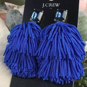 🔥NWT JCrew Factory Layered Blue Thread Earrings💝